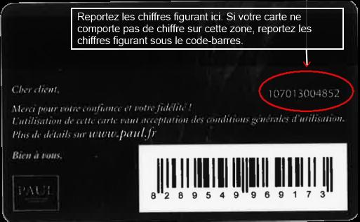 Carte Carrefour Perdue Formulaire.Paul France Fidelisation